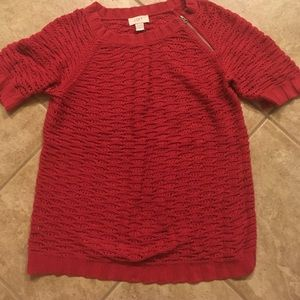 Short sleeve LOFT sweater- great for spring!